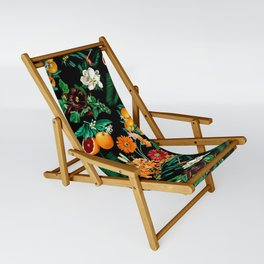 Fruit and Floral Pattern Sling Chair