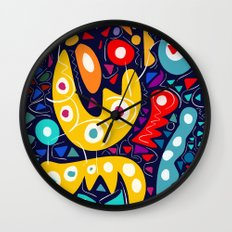 Night Life Abstract Art pattern decoration Wall Clock