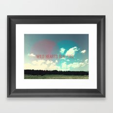 Wild hearts run free Framed Art Print