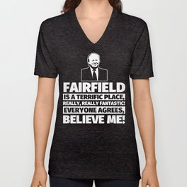 Fairfield Funny Gifts - City Humor Unisex V-Neck