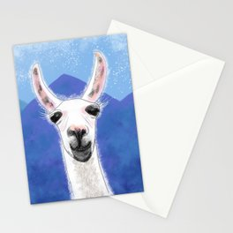 Llama Yama Smiling Stationery Cards