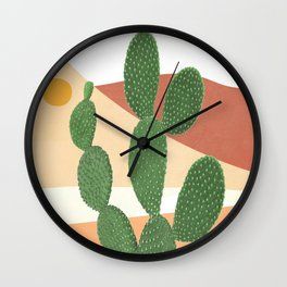 Abstract Cactus II Wall Clock