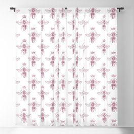 Pink Queen Bee Pattern Blackout Curtain