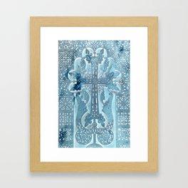 Celtic Blue - JUSTART © Framed Art Print