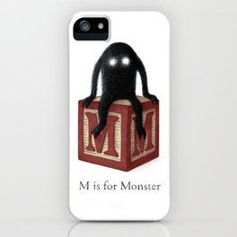 M is for Monster iPhone Case