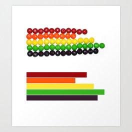 Skittle Stats Art Print