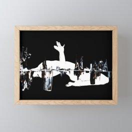 She- Intersected On Black 2 Framed Mini Art Print