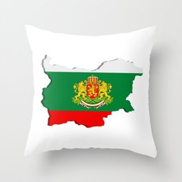 Bulgarian map Throw Pillow