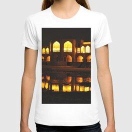 Persian Architecture Si-o-se-pol bridge at Night, Isfahan, Iran T-shirt