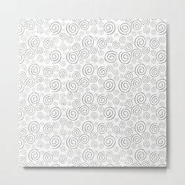 """Swirls/Rulitos"" Metal Print"