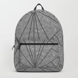 Art Deco in Black & Grey - Large Scale Backpack