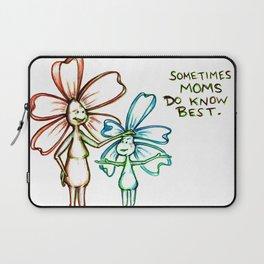 """Moms Know Best"" Flowerkid Laptop Sleeve"