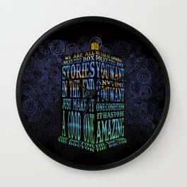 Tardis Doctor who Typography iPhone, ipod, ipad, pillow case and tshirt Wall Clock
