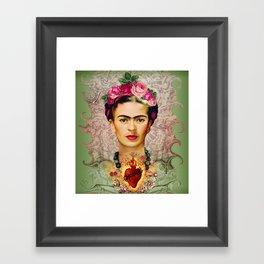 FRIDA KAHLO SACRED HEART Framed Art Print