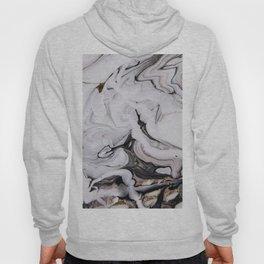 Elegant dark swirls of marble Hoody