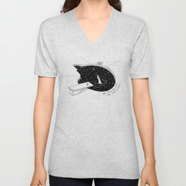 Diving Into The Unknown Unisex V-Neck