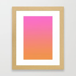 Ombré Sunset  Framed Art Print