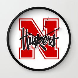 Huskers! Wall Clock