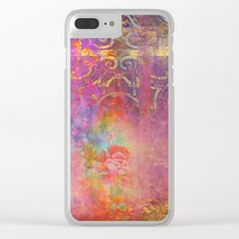 Boho Rose Clear iPhone Case