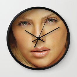 Charlize Theron - Celebrity (Oil Paint Art) Wall Clock