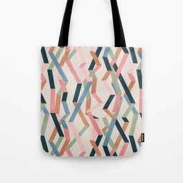 Straight Geometry Ribbons 1 Tote Bag