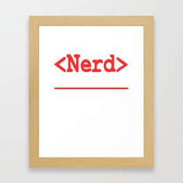 """Nerd and rockstar at the same time? You can be both with this """"Nerd Intellectual Rockstar Tee"""" Framed Art Print"""