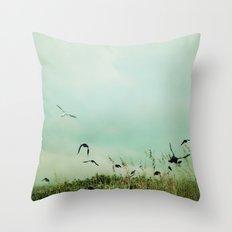 The Beautiful Flight Throw Pillow