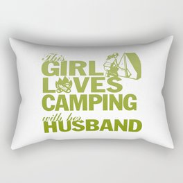 LOVES CAMPING WITH HER HUSBAND Rectangular Pillow