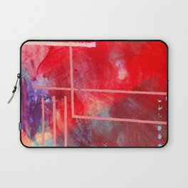 Jubilee: a vibrant abstract piece in reds and pinks Laptop Sleeve
