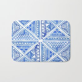 Geo tile art Bath Mat