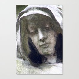 Woman in morning at Montparnasse Canvas Print