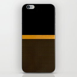 Gold your world iPhone Skin