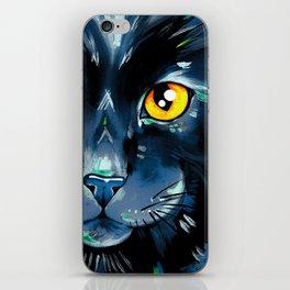 Cat's in Color 2 - Black version iPhone Skin