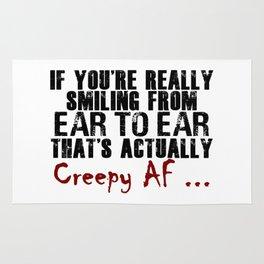 Smiling Wide Creepy AF Scary Crap Rug