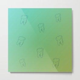 Teeth Green Turquoise gradient color Metal Print