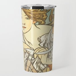 Cycles Perfecta by Alphonse Mucha, 1902 Travel Mug