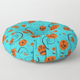 Halloween Magic- Turquoise Floor Pillow