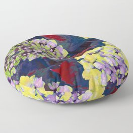 Hydrangea Yellow Floor Pillow