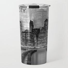 MANHATTAN Skyline | Graphic Art | white Travel Mug