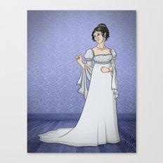Historical Dress - 1803 Canvas Print