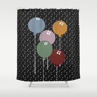 balloons Shower Curtains featuring Balloons by D.J.D