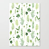 leaves Canvas Prints featuring Leaves by Vicky Webb