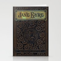 jane eyre Stationery Cards featuring Jane Eyre by Charlotte Bronte, Vintage Book Cover by ForgottenCotton