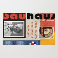 bauhaus Area & Throw Rugs featuring Bauhaus Poster by ThatGeorgeGuy