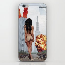 I will come back for you [ Kaiju ] - Vintage Collage iPhone Skin