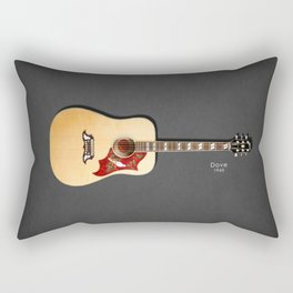 Dove Acoustic Guitar 1960 Rectangular Pillow
