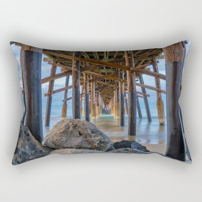 The Rocks Under Newport Pier Rectangular Pillow