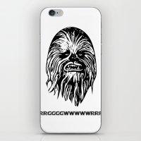 chewbacca iPhone & iPod Skins featuring Chewbacca by C Liza B