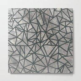 Ab Marb Grey 2 Metal Print