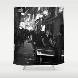 Golden triangle night life - Bordeaux Shower Curtain